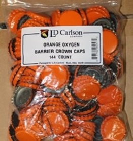 LD CARLSON ORANGE CROWN CAPS WITH OXY- LINER 144/BAG