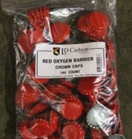 LD CARLSON RED CROWN CAPS WITH OXY-LINER 144/BAG