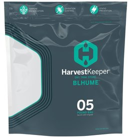 Harvest Keeper Harvest Keeper Blhume Bag 5lb <br /> <br /> Harvest Keeper™ Blhume Bags are the next evolution in long-term storage packaging for high-value crops. Crafted specifically for the needs of aroma-rich, terpene-packed plants like cannabis, herbs, and more, these extra-thi