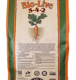 Down To Earth™ A rich, organic fertilizer mix infused with a generous amount of beneficial bacteria and mycorrhizal fungi to stimulate rooting, vigor and optimum plant development. Bio-Live encourages rapid colonization of soil and soilless mixes and may be combined wit
