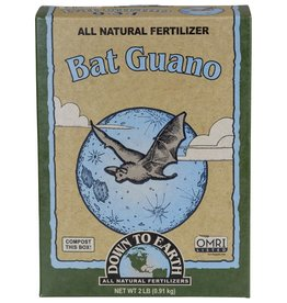 Down To Earth™ The undisputed champion of organic fertilizers, Bat Guano is rich in readily available nitrogen, phosphorus and micronutrients, and provides essential plant nutrition for vigorous vegetative growth and early fruit and flower development. Bat Guano is fast
