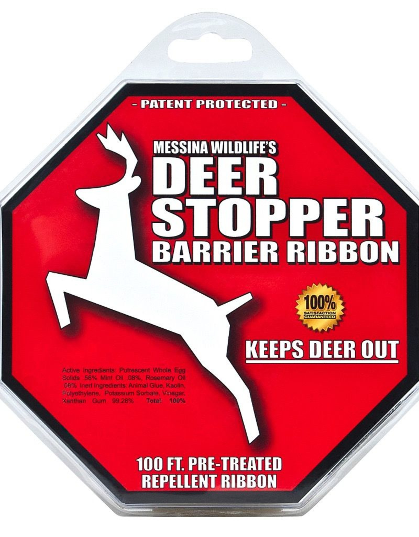 BWGS Messinas Deer Stopper Barrier Ribbon, 100'
