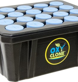 oxyCLONE The OxyClone 20 site cloner works on the principle of re-circulating super oxygenated water created by the OxyHead. The OxyHead draws in oxygen from the atmosphere and produces turbulence to continuously nourish your cuttings in super oxygenated water. No