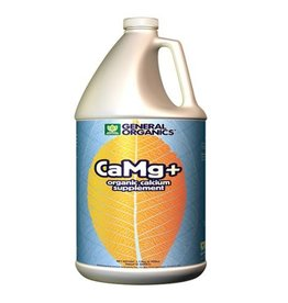 GENERAL ORGANICS CaMg+™ is the ideal supplement to provide a natural source of Calcium and Magnesium, critical elements in a plant's growth cycle. CaMg+™ is biologically catalyzed from oyster shell, dolomite lime, and natural plant extracts. Through the use of organic com