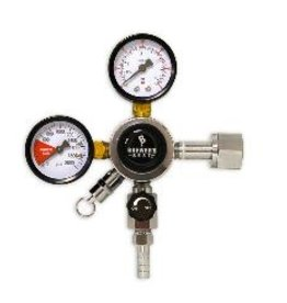 "BREWERS BEST BREWER'S BEST® PRIMARY DUAL GAUGE REGULATOR WITH 5/16"" BARB"