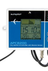 AUTOPILOT Autopilot APC8200 CO2 Monitor & Controller with Memory offers a simple and affordable way to control, monitor and record CO2 levels over an adjustable period of time. Trace your room's CO2 levels over minutes, hours, or up to 7 days with this easy-to-use