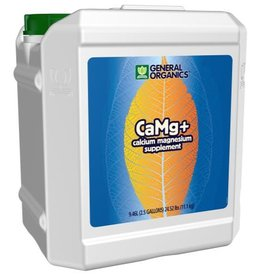 GENERAL ORGANICS CaMg+® is the ideal supplement to provide a natural source of Calcium and Magnesium, critical elements in a plant's growth cycle. CaMg+® is biologically catalyzed from oyster shell, dolomite lime and natural plant extracts. Through the use of organic comp