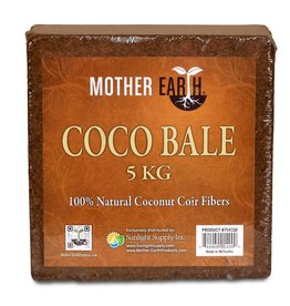 MOTHER EARTH Mother Earth® Coco Bale is made of 100% natural Coco Fiber. Coco Pith combined with longer and shorter fibers help to create a soil alternative that has exceptional water holding capacity, while maintaining high porosity and drainage abilities. Mother Ear