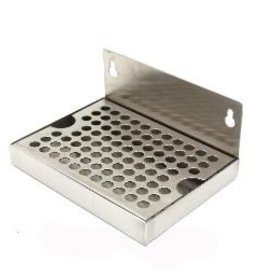 "LD CARLSON DRIP TRAY - STAINLESS STEEL (6""L x 4""W) NO DRAIN"