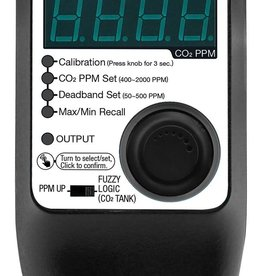 TITAN CONTROLS The Atlas 9 is an easy to use digital CO2 controller with knobs to adjust your PPM set point and dead-band to operate your CO2 regulator or CO2 generator. The Atlas 9 has a 15' remote sensor that includes the photocell and CO2 sniffer. The photocell ensur
