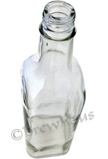 Brewhaus 750ml Square Liquor Bottle Clear
