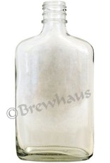 Brewhaus 250ml Flask Liquor Bottle, Clear