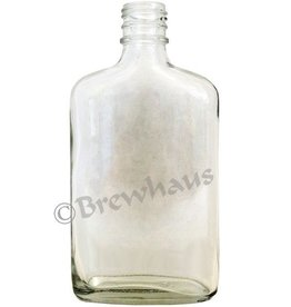Brewhaus 250ml Flask Liquor Bottle, Clear