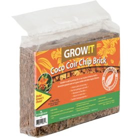 GROWIT Give your plants a sturdy growing structure with GROW!T's Coco Coir Bricks. Now available at Hydrofarm, Coco Coir Bricks support your plants all year long. The bricks, available in a mix or chip format, do double duty: They retain water, making sure plant