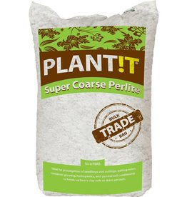 PLANTIT Perlite is a unique volcanic mineral which expands from four to twenty times its original volume when it is heated. Perlite can reach temperatures of approximately 1600-1700 degrees F. The media's expansion is due to the presence of two to six percent com