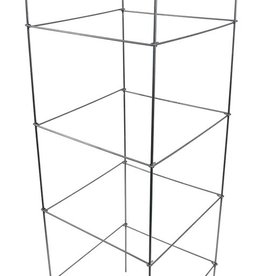 GROWERS EDGE Grower's Edge High Stakes Commercial Grade Square Folding Tomato Cage - 5 Tier - 60 in x 17.5 in x 17.5 in