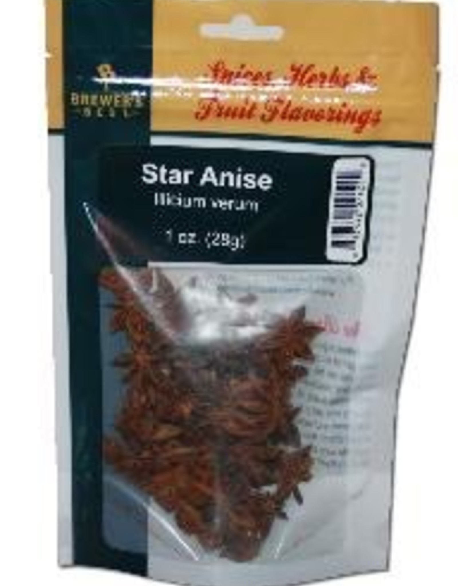 BREWERS BEST Illicium verum In times past, fresh star anise was chewed after each meal to aid digestion and to sweeten the breath. Used in specialty Belgian and holiday style beers, star anise has a flavor similar to licorice, yet is dramatically different when tasted
