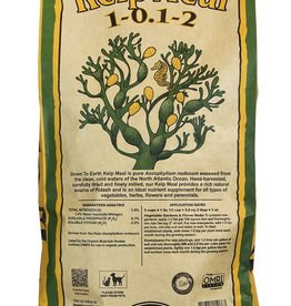 Down To Earth™ Down To Earth™ Kelp Meal is pure Ascophyllum nodosum seaweed from the clean, cold waters of the North Atlantic Ocean. Hand-harvested, carefully dried and finely milled, our Kelp Meal is a rich natural source of Potash and is ideal for early Spring or Fall