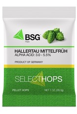 bsg Origin: Germany. The signature landrace variety of the Hallertau region in Bavaria, Hallertau Mittelfrüh is, at least to some, the epitome of noble hops.<br /> <br /> Usage: Aroma. Although it can be and is used throughout the boil, it is most prized for its fine, el