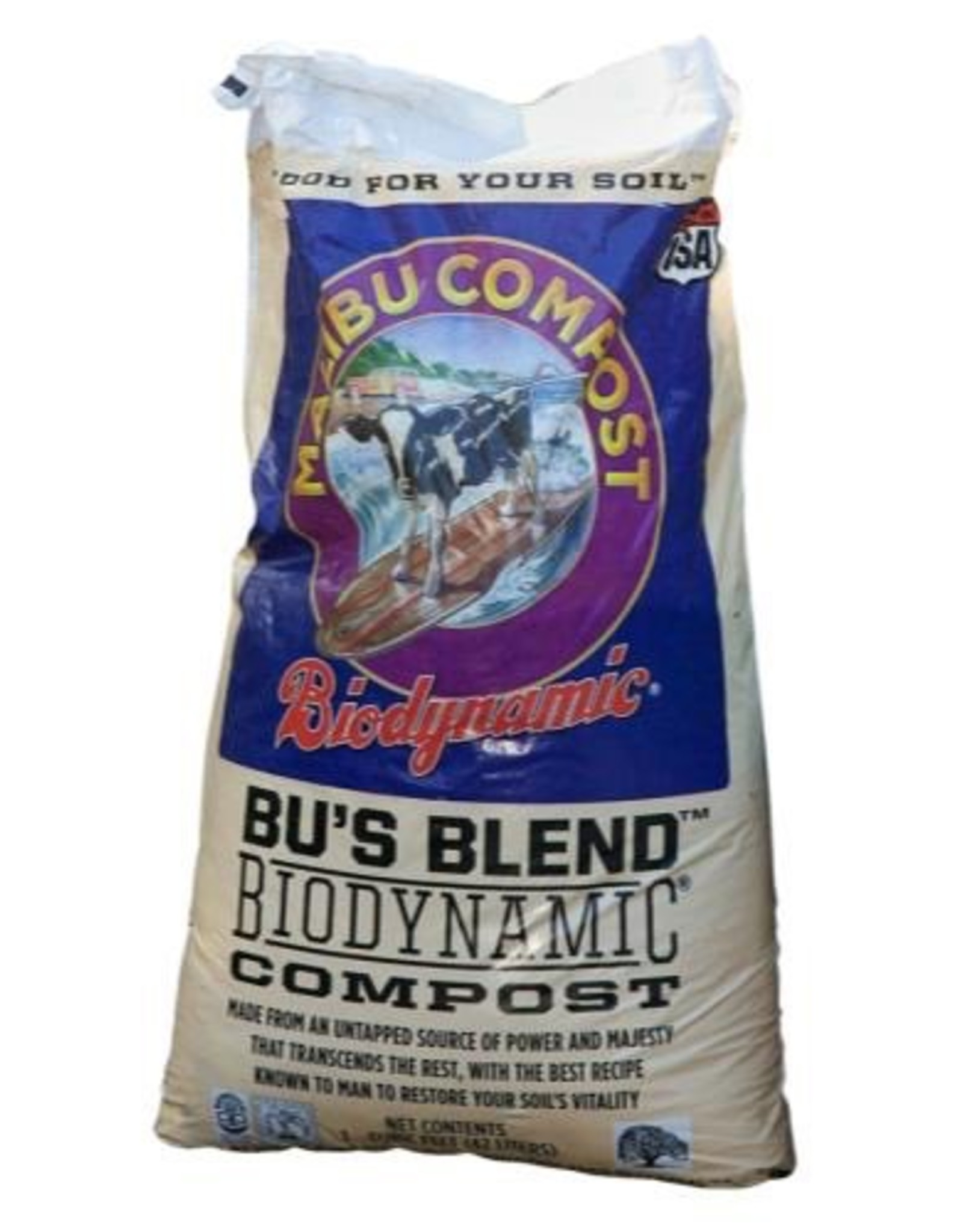 Bu's Blend Bu's Blend™ Biodynamic® Compost is full of naturally occurring microbial diversity which nourishes soil-inhabiting organisms, saves water and serves as a source of support for planting and managing soil health. Made from a base of the best organic dairy c
