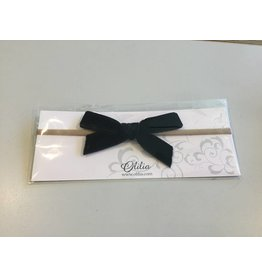 OLILIA Olilia - Velvet Bow stretchy headband