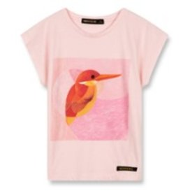 FINGER IN THE NOSE E19 MARSH Vegas Pink Hummingbird - Girl Knitted Sleeveless T-Shirt