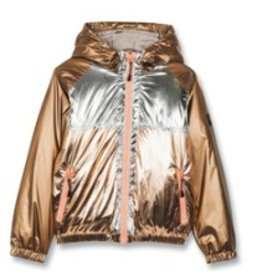 FINGER IN THE NOSE E19 BARKLEY Multicolor Metal Colorblock - Unisex Woven Hooded Wind Breaker