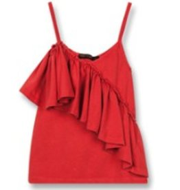 FINGER IN THE NOSE E19 CATHY Poppy Red - Girl Knitted Jersey Tank Top