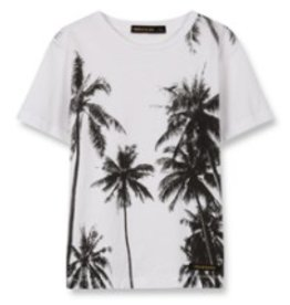 FINGER IN THE NOSE E19 DALTON White Palms - Boy Knitted Short Sleeves T-Shirt