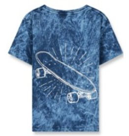FINGER IN THE NOSE E19 DALTON Ocean Blue Skateboard - Boy Knitted Short Sleeves T-Shirt