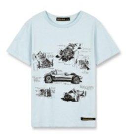 FINGER IN THE NOSE E19 DALTON Wave Blue Formula V - Boy Knitted Short Sleeves T-Shirt