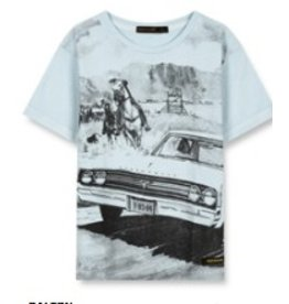 FINGER IN THE NOSE E19 DALTON Wave Blue Western Car - Boy Knitted Short Sleeves T-Shirt