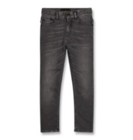 FINGER IN THE NOSE E19 ICON Grey Denim - Unisex Woven 5 Pockets Slim Fit Jeans