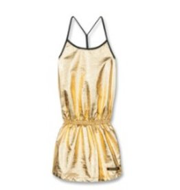FINGER IN THE NOSE E19 JESS Gold Metal - Girl Knitted Jersey Tank Top Dress
