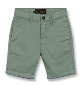 FINGER IN THE NOSE E19 ALLEN Lichen Green - Boy Woven Chino Fit Bermuda Shorts