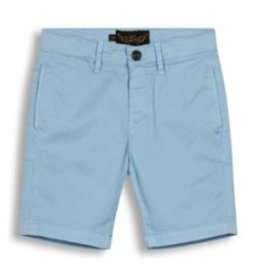 FINGER IN THE NOSE E19 ALLEN Wave Blue - Boy Woven Chino Fit Bermuda Shorts