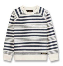 FINGER IN THE NOSE E19 HANK Indigo Stripes - Boy Knitted Crew Neck Sweatshirt