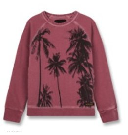 FINGER IN THE NOSE E19 HANK Plum Palms - Boy Knitted Crew Neck Sweatshirt
