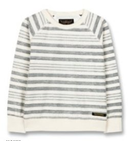 FINGER IN THE NOSE E19 HANK Kraft Blue Stripes - Boy Knitted Crew Neck Sweatshirt