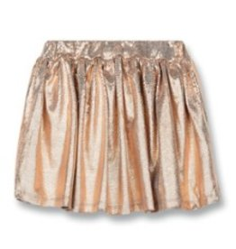 FINGER IN THE NOSE E19 ANNIX Copper Metal - Girl Woven Mini Skirt