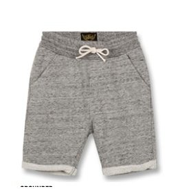 FINGER IN THE NOSE E19 GROUNDED Heather Grey - Boy Knitted Fleece Comfort Fit Bermudas