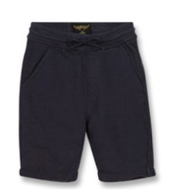 FINGER IN THE NOSE E19 GROUNDED Super Navy - Boy Knitted Fleece Comfort Fit Bermudas