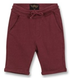 FINGER IN THE NOSE E19 GROUNDED Burgundy - Boy Knitted Fleece Comfort Fit Bermudas