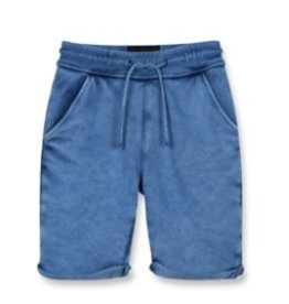 FINGER IN THE NOSE E19 GROUNDED Kraft Blue - Boy Knitted Fleece Comfort Fit Bermudas