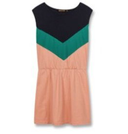 FINGER IN THE NOSE E19 BOBBIE Powder Pink Colorblock - Girl Knitted Sleeveless Dress
