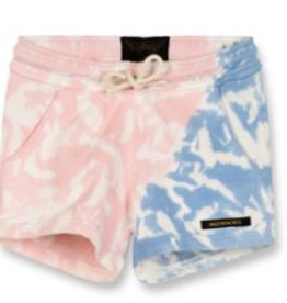 FINGER IN THE NOSE E19 TRINITY Wave Blue/Pink Tie & Dye - Girl Knitted Mini Shorts
