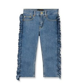 FINGER IN THE NOSE E19 VANDETTA Blue Denim Flounces - Girl Woven Eighties Fit Jeans
