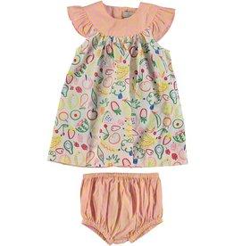 6288b725f4b7 STELLA MCCARTNEY E19 baby girl small fruit Dress/bloomer set