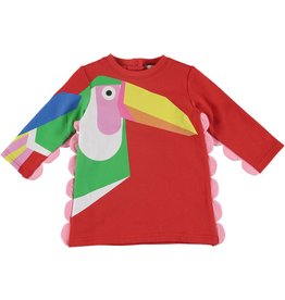b2c457490f28 STELLA MCCARTNEY E19 baby girl ls toucan dress