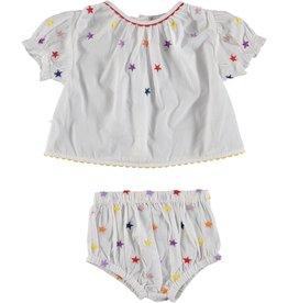 8c41a2f7c6c7 STELLA MCCARTNEY E19 baby girl multic ember stars blouse and bloomer set